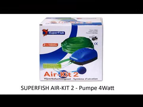 SUPERFISH AIR-KIT 1  Pumpe 2 Watt Teichbelüfter Ausströmer Sauerstoff Teich Luft